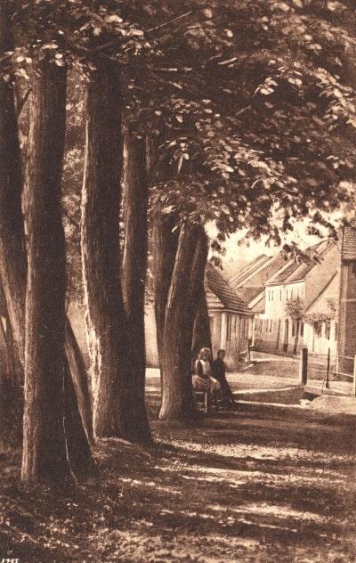 Blick in die Sorauer Straße, heute Geschwister-Scholl-Straße