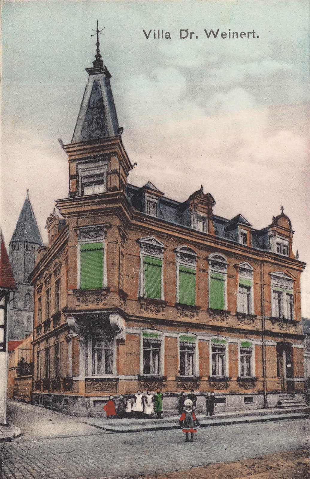 Die Villa Weinert in der Hoyerswerdaer Straße