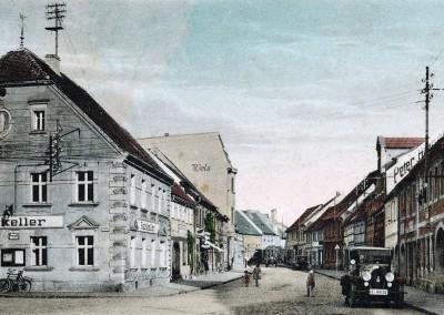 Das Wittichenauer Rathaus und die Bautzener Straße