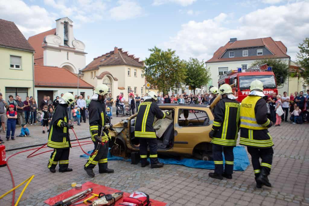 Übung der Wittichenauer Feuerwehr