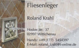 Fliesenleger Roland Krahl